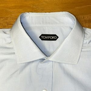 TOM FORD 17.5 Blue Dress Shirt
